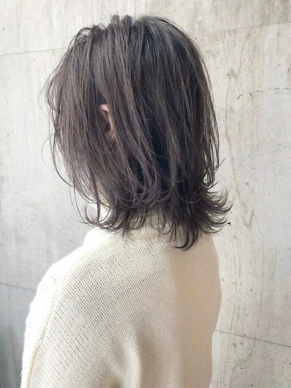 40代髪型|手入れが楽なラベンダーミディアム