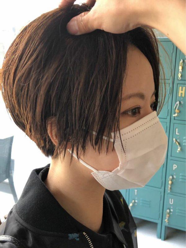 硬い髪質の方向けの大人ボーイッシュな髪型