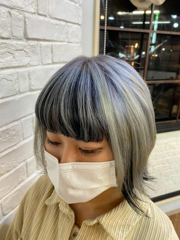 ハンサムショート×インナーカラーの髪型7