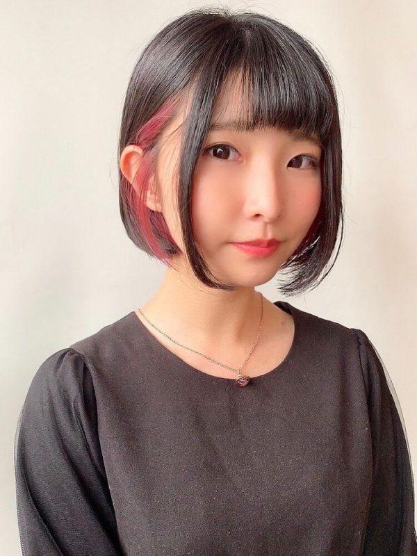 ほど良く可愛い黒髪×イヤリングカラー