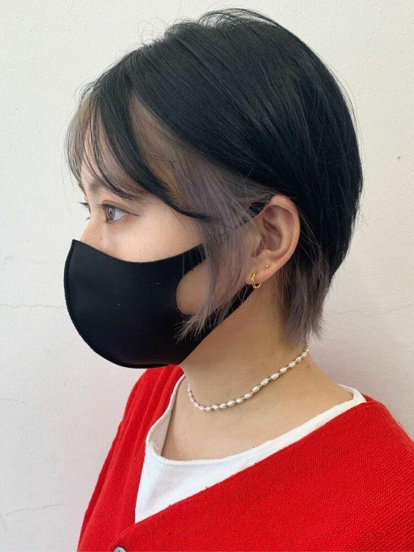 透明感が出る黒髪×イヤリングカラー