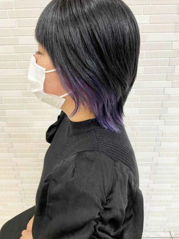ハンサムショート×インナーカラーの髪型6