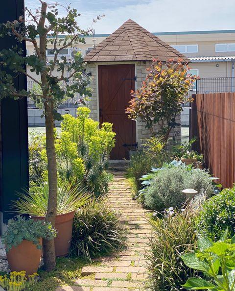 女性に人気の南欧風デザインの庭
