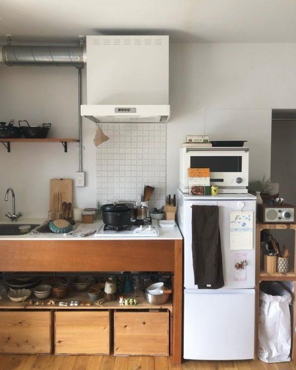 おしゃれな和風のキッチンインテリア