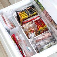 ごちゃつく冷凍庫の仕切りアイデア。100均や無印アイテムを使って整理整頓しよう