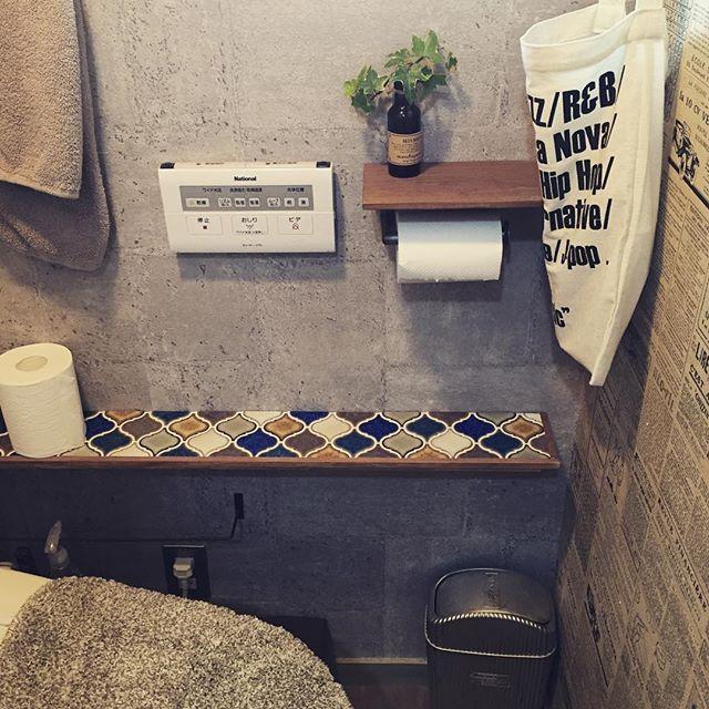 おしゃれなモロッコ風タイルの素敵なトイレ事例