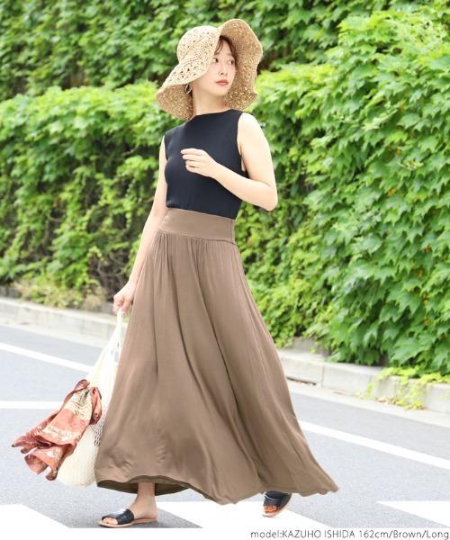 【coca】落ち感フレアロングスカート