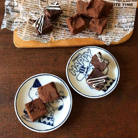 材料少ない簡単スイーツ!豆腐で生チョコ