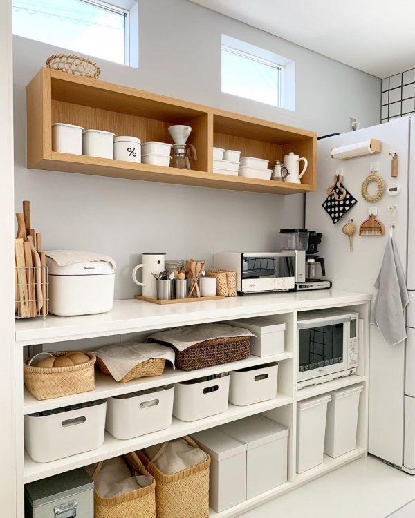 キッチン背面収納に活用