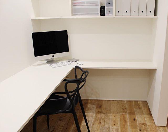 L字設計で使いやすい書斎