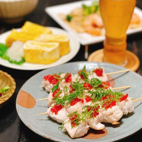 和食のおもてなしに!梅のしそササミ串焼き