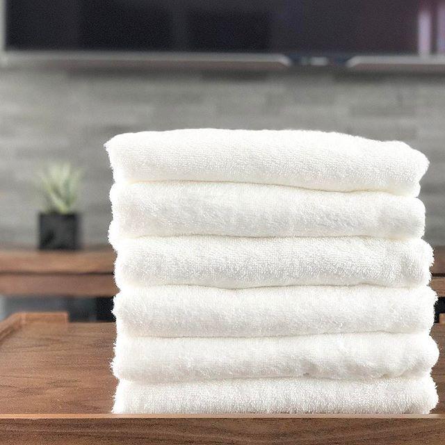 カインズのふわふわで真っ白なタオル