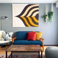 ファブリックポスターのおしゃれな飾り方。賃貸の部屋でも◎なアイデア実例