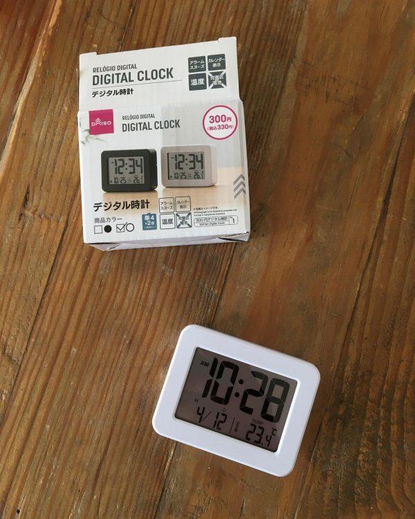 【ダイソー】シンプルで使いやすい時計