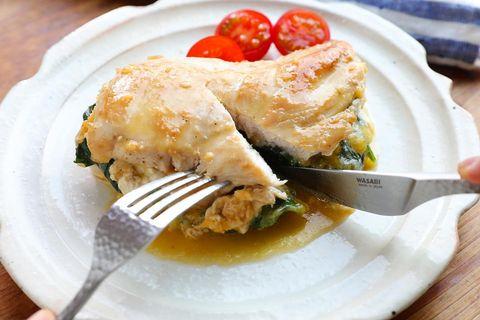 人気の献立:鶏むねのはさみ焼き