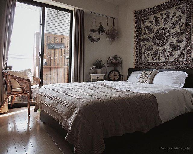 寝室をリゾートテイストにした飾り方