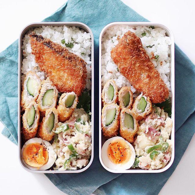 サクサクが人気メニュー!鮭フライのお弁当