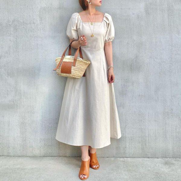 レトロファッションを取り入れた女っぽコーデ2