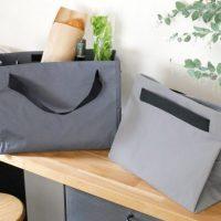 シンプルなデザインが魅力の「保冷レジカゴバッグ」。保冷機能付きで冷蔵食材も安心!