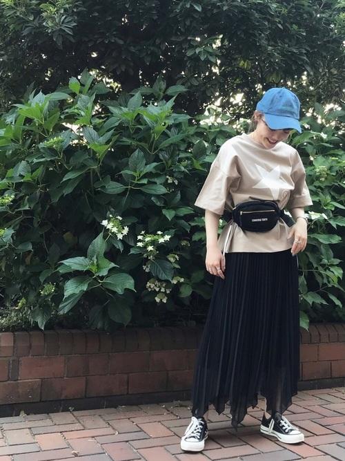 [CONVERSE TOKYO] ロゴ刺繍デニムキャップ