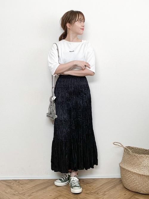 ユニクロのツイストプリーツスカート