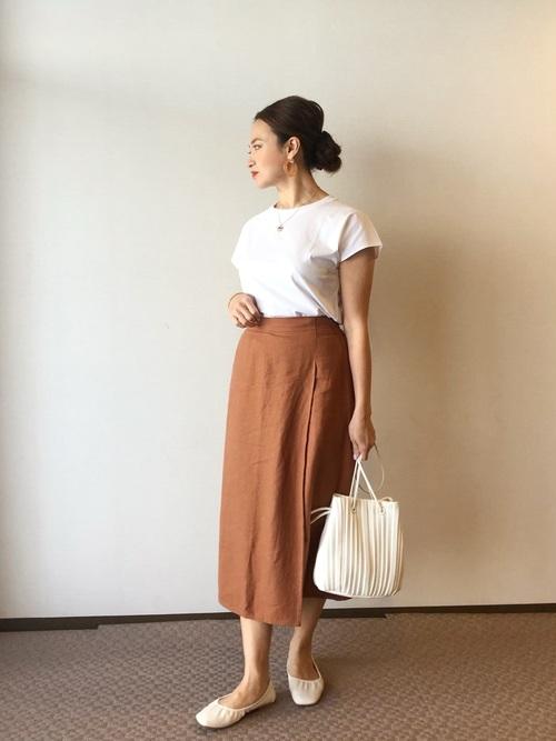 ユニクロのラップ風スカート