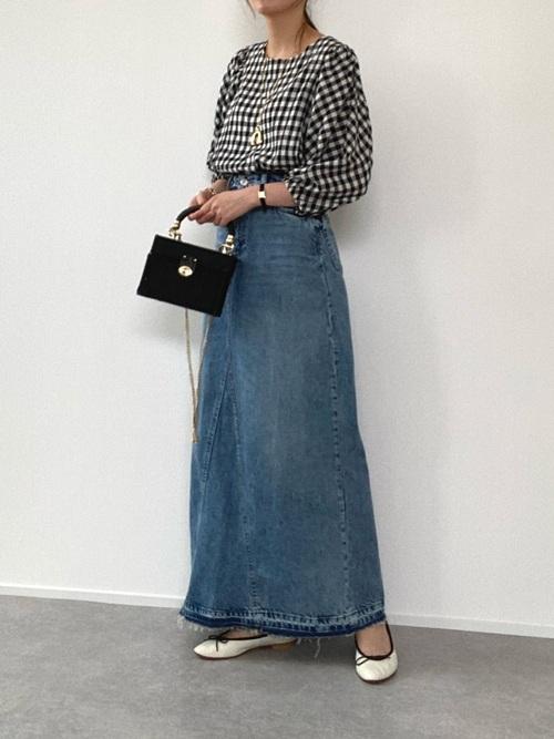 ZARAのデニムロングスカート