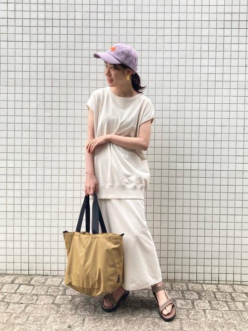 [ROPE' PICNIC] ミニ裏毛ロングスカート
