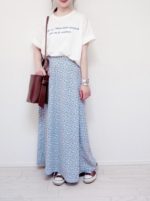 GU花柄スカート