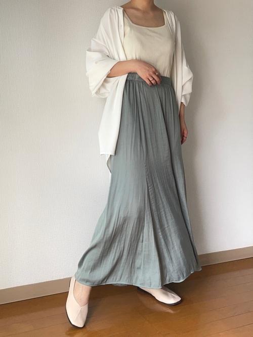 GUサテンスカート