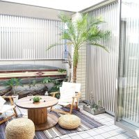 エキゾチックな南国風の庭作り15選。夜はリゾート気分を味わえるおすすめデザイン