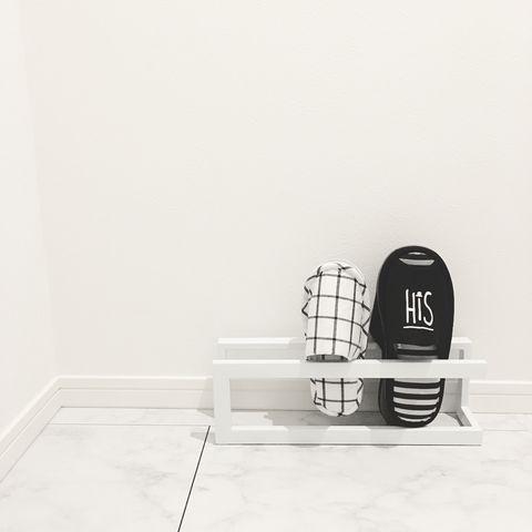 廊下でのおすすめスリッパ収納アイデア