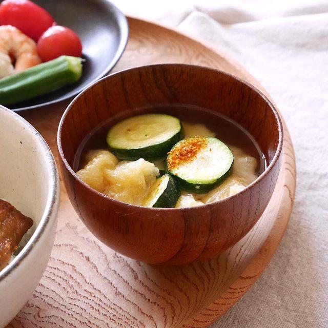 新感覚の味噌汁!ズッキーニの味噌汁レシピ