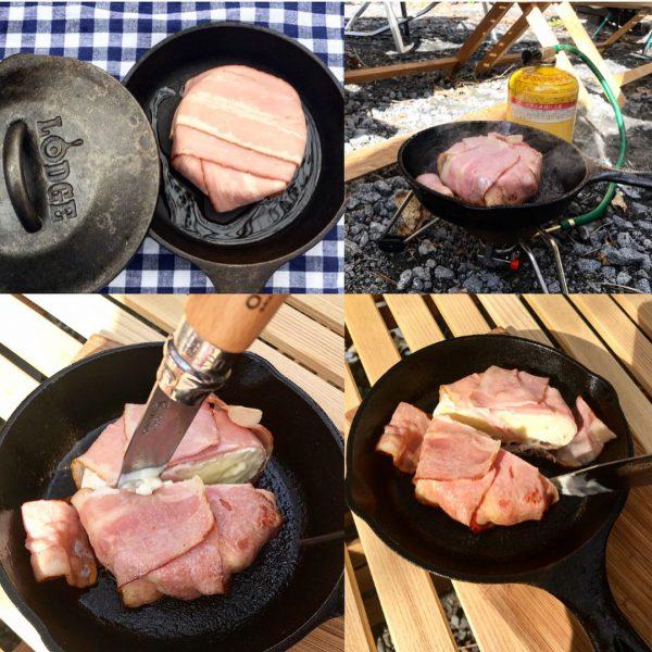 豪華料理!カマンベールのベーコン包みレシピ