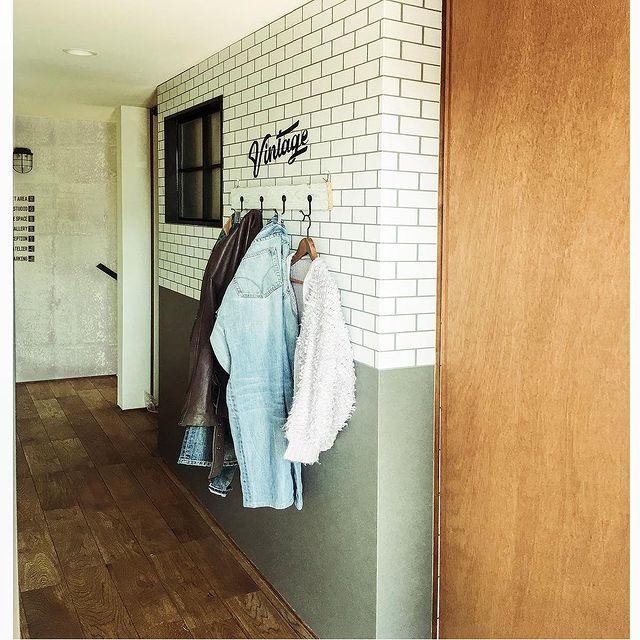 衣類の収納場所として廊下スペースを活用