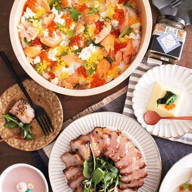 夏に人気のご飯メニュー:ちらし寿司
