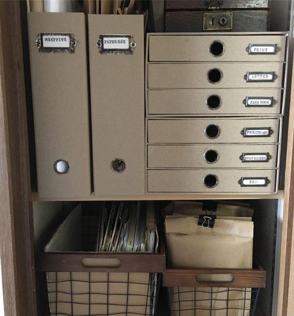 タグをつけて文房具を可愛く収納