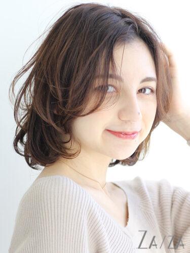 40代向け「手入れが楽なパーマ」の髪型9