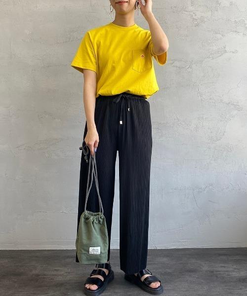 [JEANS FACTORY] [DANTON/ダントン] クルーネックポケットTシャツ