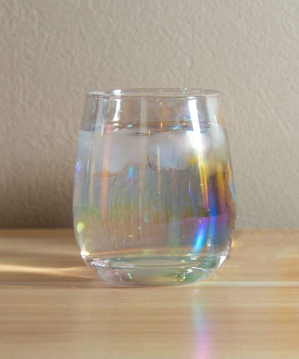 【おうちカフェを楽しむ】オーロラグラス 330円(税込)