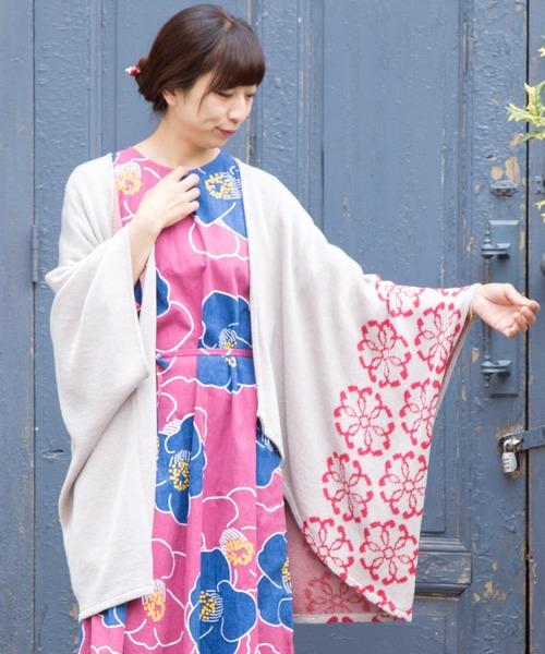 [チャイハネ] 【カヤ】紋色羽織り ビッグシルエットニットカーディガン