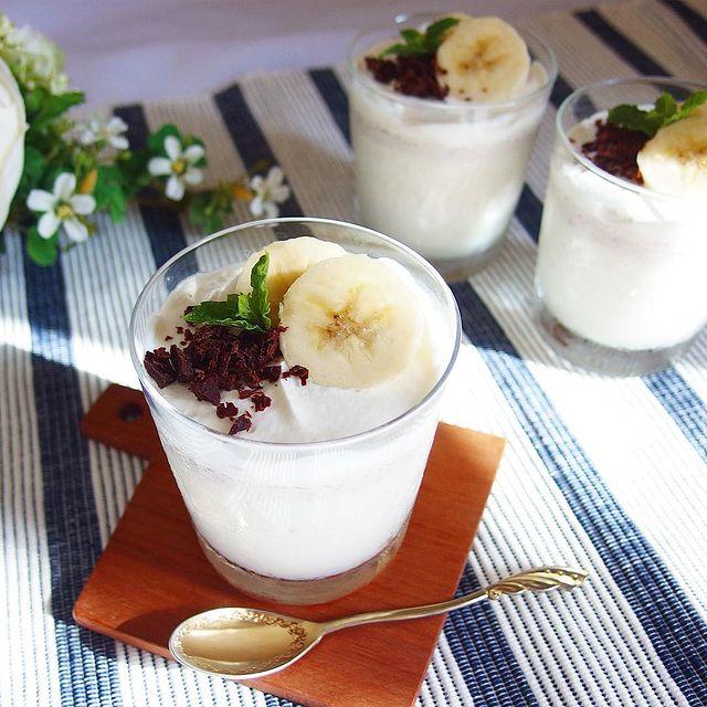 夏の洋菓子に!簡単手作りバナナプリン