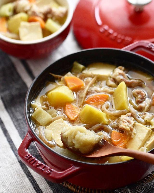 栄養◎さつまいもとみりん生姜の豚汁レシピ