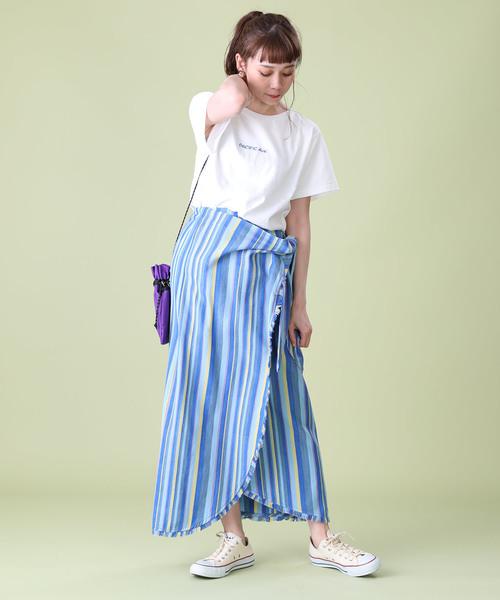 wakami×FREAK'S STORE/ワカミ 別注ラップスカート