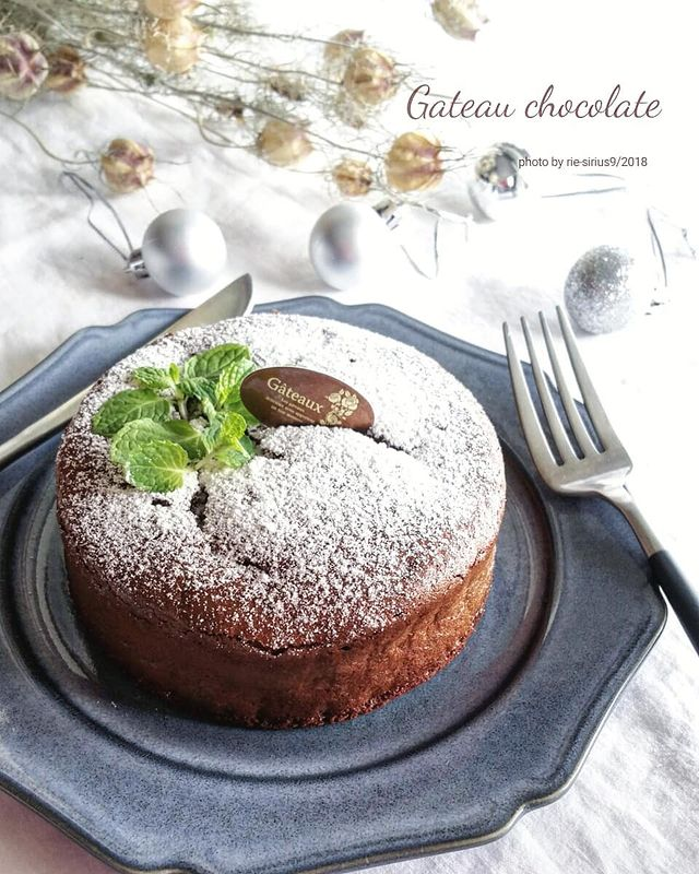 爽やか♪ミントを添えたガトーショコラレシピ
