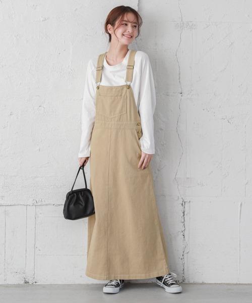 【La-gemme】デニムスカートサロペット