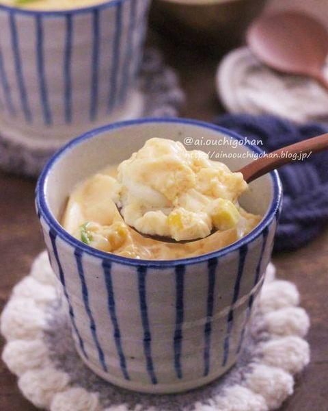 レンジで簡単♡子供に人気の茶碗蒸しレシピ