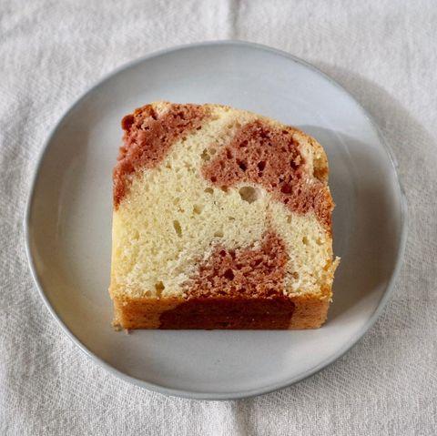 マーブルいちごパウンドケーキレシピ