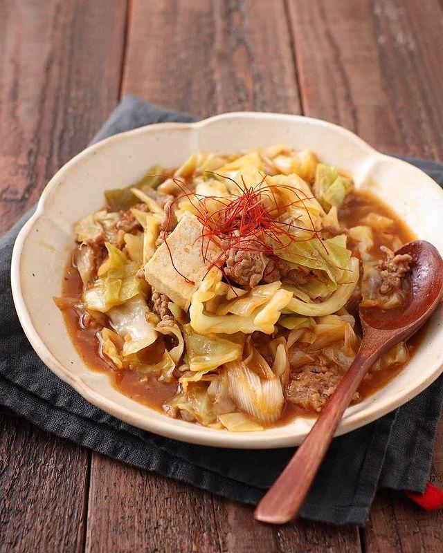 野菜もとれる料理!キャベツの麻婆豆腐レシピ