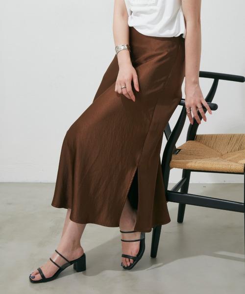 【YARD PLUS/AUNT MARIE'S】ダブルサテンマーメイドスカート